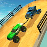Double Impossible Mega Ramp 3D