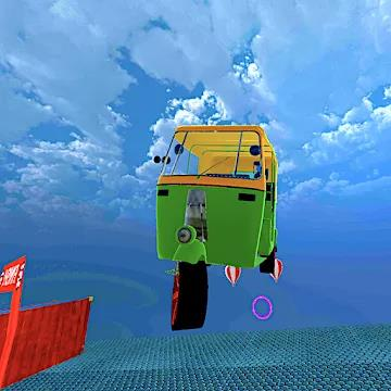 Mega Rikshaw Extreme Impossible Stunts 3D